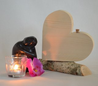 asbewaarder hart op stammetje nieuw steigerhout