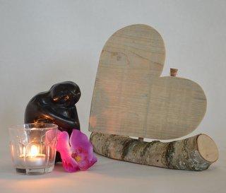 asbewaarder hart op stammetje gebruikt steigerhout